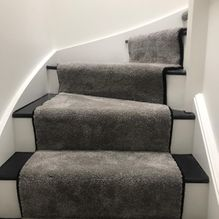 curved stair carpet